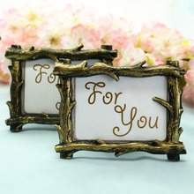 300pcs Retro European Style Scenic View Branch Resin Photo Frame Place Card Image Holder Home Table Decoration Present ZA1358(China)