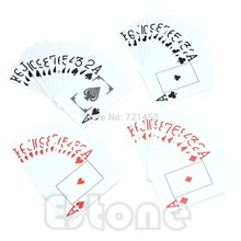 1*Waterproof Poker New Blue /Red 100% PLASTIC Washable Texas Poker Size Playing Cards