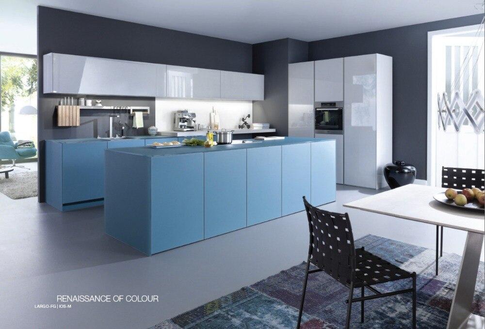 Modern Modular Kitchen Customized Made Lacquer Kitchen Cupboard 2 Pack Paint  Kitchen Cabinet Quartz Stone Countertop
