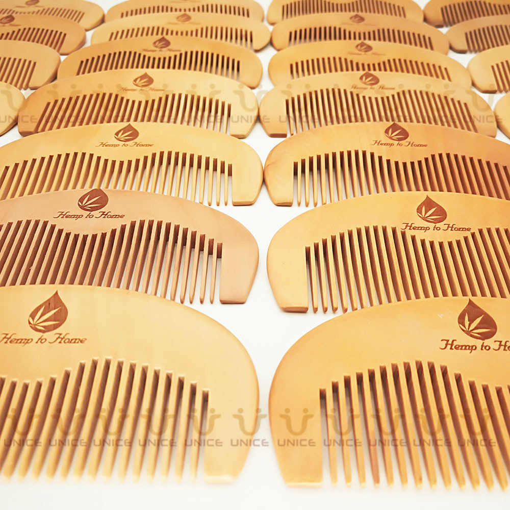 100pcs/lot Your LOGO Customized Private Label Combs Hair Beard Wood Comb for Men & Women for Barber Shop Retail Case 41