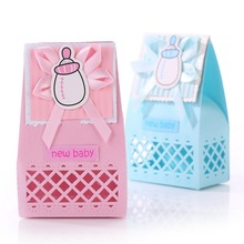 Wedding Candy Box Feeding Bottle Shape Party Baby Shower Favor Paper Gift Boxes Candy Box Decorations Event & Party Supplies