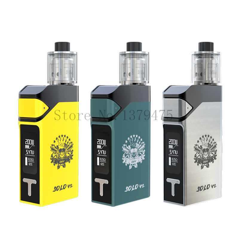 Original Ijoy Solo V2 Kit 200W TC Starter Kit with 2ml Limitless Sub Ohm Tank Electronic Cigarette Vape Kit 1Pcs/Lot<br><br>Aliexpress