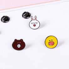 2016 Fashion Cute Cartoon Enamel Brooch Pin Charm Costume Pins Jewelry Accessories For women Broches Best Friends Christmas gift