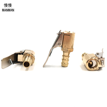 5pcs Clamp Brass Tyre Valve Air Pump Chuck Clip Tire Inflator Valve Connector High Quality 8mm Car Truck Tyre(China)