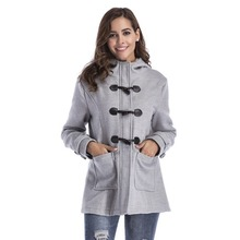 Womens Winter Fashion Warm Wool Blended Classic Pea Coat Hooded Jacket Slim Overcoat(China)