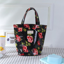 2018 shopping bag Girl Shopping Tote Flower Pattern Eco Bag Cotton Grocery Pouch Handbags Stuff Organizer Big Space For Women(China)