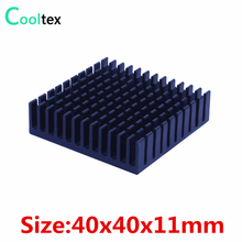 (2pcs/lot) 100% new 40x40x11mm Aluminum heatsink Extruded black radiator heat sink for Electronic heat dissipation cooling(China)