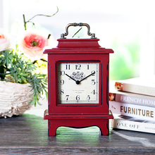 Red Birch & MDF Mantel Clock, Kitchen & Bedroom Clock, Wall Clock