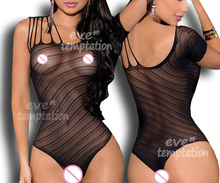 Buy Sexy crochet Fish Net costumes sleepwear Lingerie Babydoll minidress Underwear bikini Chemises Nightgown open crotch 6121