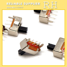 100PCS/lot SS12D07VG4 Small toggle switch 3 feet 2 files Handle height 4MM With stent(China)