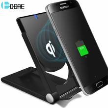 DCAE Qi Wireless Charger Dock Mobile Phone Charger Foldable Charging Holder Stand iPhone X 8 8 Plus Samsung Galaxy S6 S7 S8