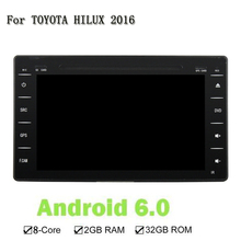 Octa Core 1024*600 2 Din Android 6.0 RAM 2G Car DVD Multimedia Player Radio Stereo 3G/4G WIFI GPS Map Toyota HILUX 2016 - SZ Store store