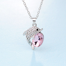 New Arrival Fashion Necklace Jewelry Beautiful Dolphin Rhinestone Crystal Pendants For Women Pendant Free Shipping(China)