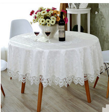 European round table tablecloth lace tablecloth hollow white tablecloth  mats cover towels