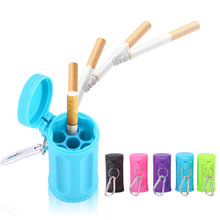 Durable Portable Pocket Ashtray With Keychain Candy Color ABS Car Ashtray Mini Ashtray Italy Outdoor Beach Ashtray(China)