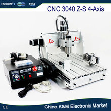 Original LY CNC 3040 Z-S 800W 4 axis wood metal engraving machine PCB carving router 3040Z-S engraver cutter tool