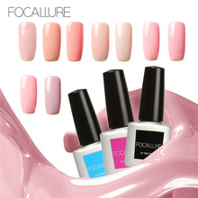 FOCALLURE Nude Color Series Color UV Builder Gel UV Gel Acrylic for Nail Art False Tips Extension Gel Lacquer Pick 1 Color
