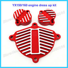 Red YX 160cc 1P60FMK Engine Cam Cover Valve Cap Dress Up Kit For Pit Motor Dirt Bike