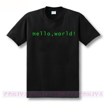 Sexemara cool design print Programmer computer T-shirt hello world linux geek male short-sleeve men's shirt male basic top tee