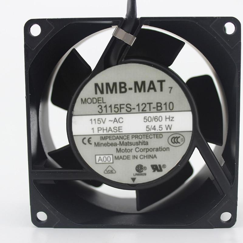 NMB-MAT 3115FS-12T-B10, A00 AC 115V 5W 80x80x38mm Server Square fan<br>