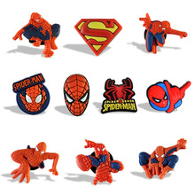 New 9pcs/lot of Spider man Cartoon Magnet Refrigerator stickers School Kid Party Gift toy