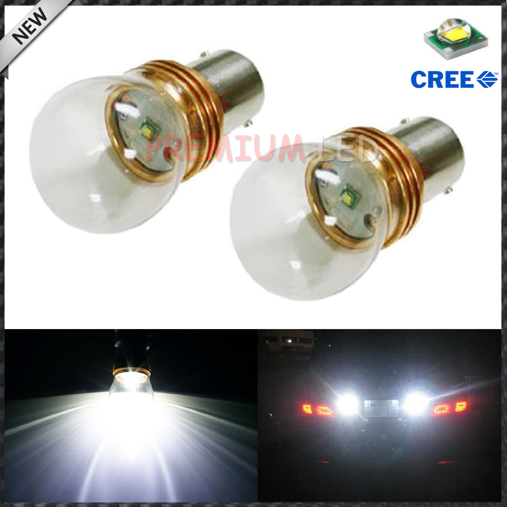 2pcs Extremely Bright CREE Q5 XP-E 5W High Power 1156 7506 P21W LED Bulbs For Backup Reverse Lights, Xenon White<br><br>Aliexpress