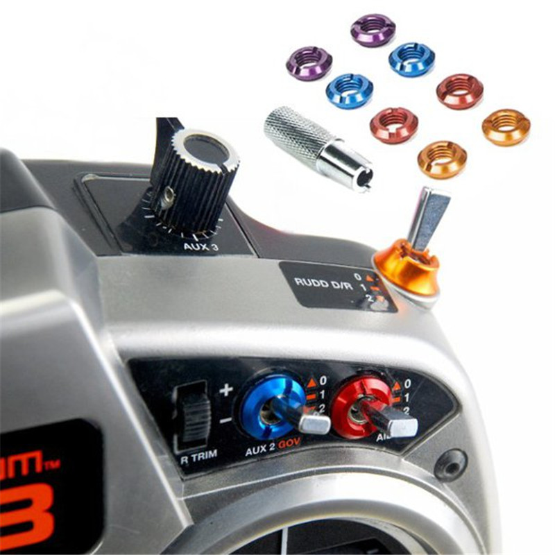 8PCS Remote Control Switch Color Nut ForSpektrum RC Transmitter Red/Blue/Purple/Orange RC Models Spare Parts Accessories