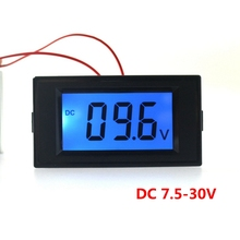 Digital DC 7.5-30V car motorcycle battery monitors volt voltage meter lcd display voltmeter(China)
