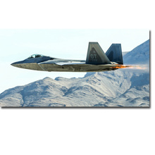 F22 Raptor Aircraft Military Art Silk Poster Print 13x24 24x43 inches Sky Mountains Pictures For Living Room Decor 005
