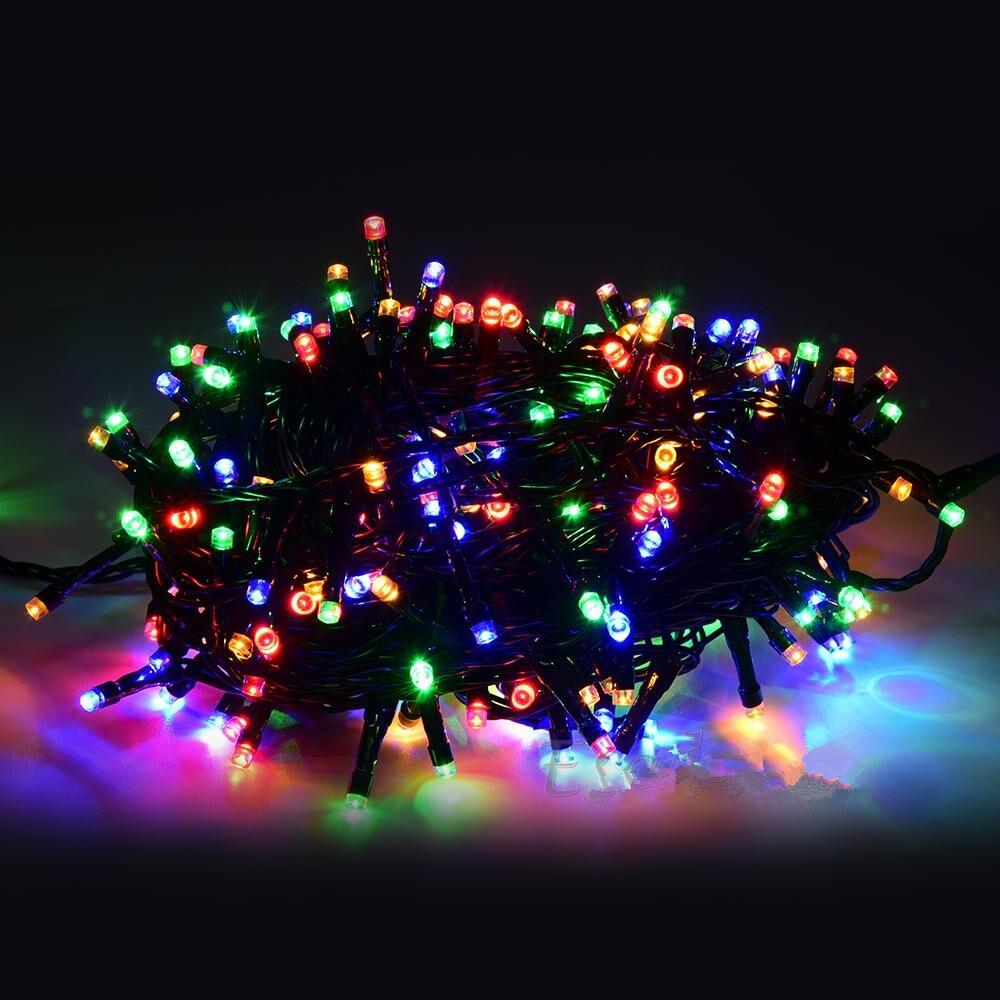 24V Safe 250 Leds 50M LED Light Garland Christmas Decorations for Tree String Fairy Lights Lighting 8 Modes<br><br>Aliexpress