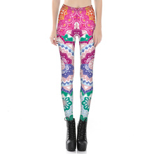 New 2017 Women Fashion Retro Style Leggings Color paper cutting Digital printing Pants Leggings Size S-4XL