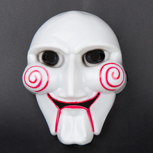 1 PCS Halloween Saw Máscara Cosplay Partido Do Disfarce da máscara Filme Jigsaw Assassino Motosserra Máscara Tema Original Feito De Pvc da Qualidade do Dia Das Bruxas
