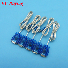 10pcs/lot  HL-340 USB to RS232 COM Port Serial PDA 9 pin DB9 Cable Adapter Support Windows7 64
