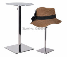 2pcs Mirror Stainless Steel adjustable Hat display stand cap showing stand  Metal Hat Display stand rack free shipping