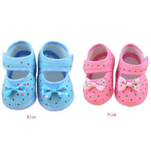 2017 Spring Kids Fashion Girls Shoes Blue And Pink Baby Bowknot  Boots Soft Crib Shoes New Trendy  Casual toddler girl Shoes