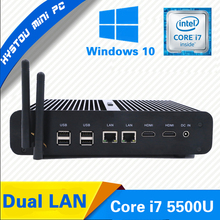 Hot New Intel Core i7 5500U Mini PC Windows 10 Mini Computers 16GB RAM 256GB SSD Minipc Intel NUC i7 Dual LAN 4K HD PC Portable