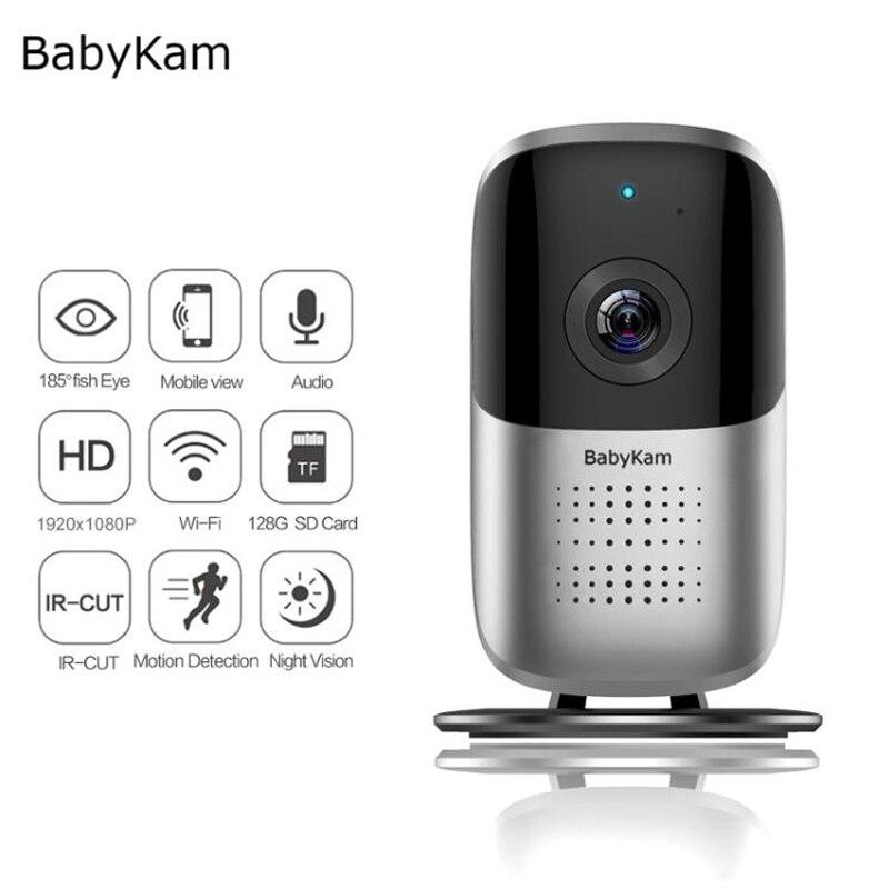 BabyKam 180 Degree Security Camera Panoramic HD 1080P Wireless Wifi IP Cam Fisheye 1.44mm Wi-Fi Cameras Surveillance CCTV Cam<br>
