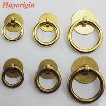 3pcs Antique Kitchen Cabinet Drawer Knobs Chienes Furniture Cabinet Handles Vintage Closet Cupbord Cabinet  Ring Pulls