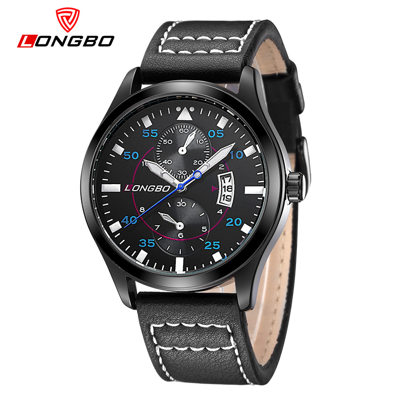 2017 Hot Seller LONGBO Brand Fashion Military Leather Quartz Watches Date Calendar Wristwatches Mens Watches 80202<br><br>Aliexpress