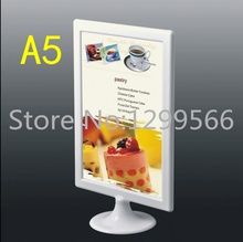 A5 Free shipping Advertisement Poster menu label display stand photo frame POP price holder desk tabel  Art card display rack