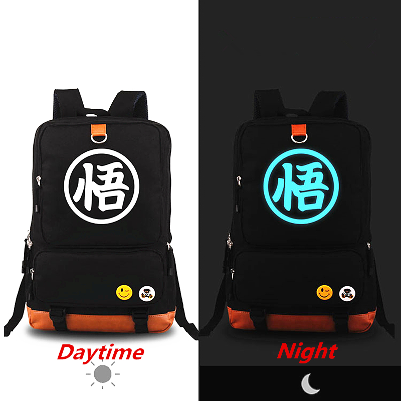 New Hot Anime Dragonball Z Backpack Son Goku Cosplay Backpacks Dragon ball Canvas Student School bags Unisex Travel Laptop Bags<br>