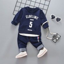 Children's Clothing Baby Boy Clothes Sports Suit for The Boy High Qulity 2PCS Child Suit 1 -4 Years Kid Boys Sports Set Clothing(China)