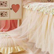 Brand 100% Cotton Bedspread Coverlet Flowers Design Bedding Sheet Lace Bed Skirt Covers Protective Mattress Pad Dress Home D12