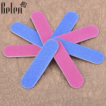Belen 10Pcs/lot Nail Buffer Files Grit Slim Nail File Stick Nail Art Manicure Tool Set Sanding Sandpaper Nail Files(China)