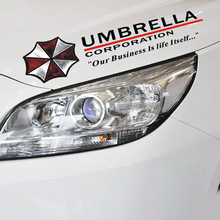 Umbrella corporation Car Stickers Sports Mind Eyelids Decals for Tesla Chevrolet Volkswagen polo golf Honda Hyundai Kia Lada(China)