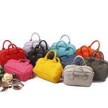 Lovely Candy Color Women Leather Mini Shoulder Phone Bag Crossbody Small Chain Purse For Girls Kids Clutch Top-handle Bags Sac