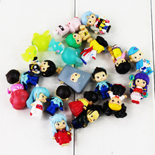 20pcs/lot Cute Anime Cartoon Character Inuyasha Sesshoumaru Mini PVC Figure Toys Collection Model Doll Christmas Gift For Kids(China)