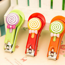Household daily Nail Clippers Cartoon Lollipop Shape Clipper Stainless Steel Manicure Care Nail Cutter Clipper Trimmer Scissor(China)