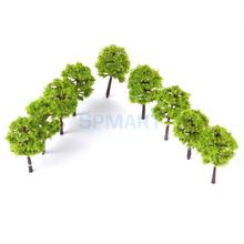 New Arrivals 2015 Plastic Model Trees Train Railroad Scenery 1:250 40pcs Light Green Free Shipping