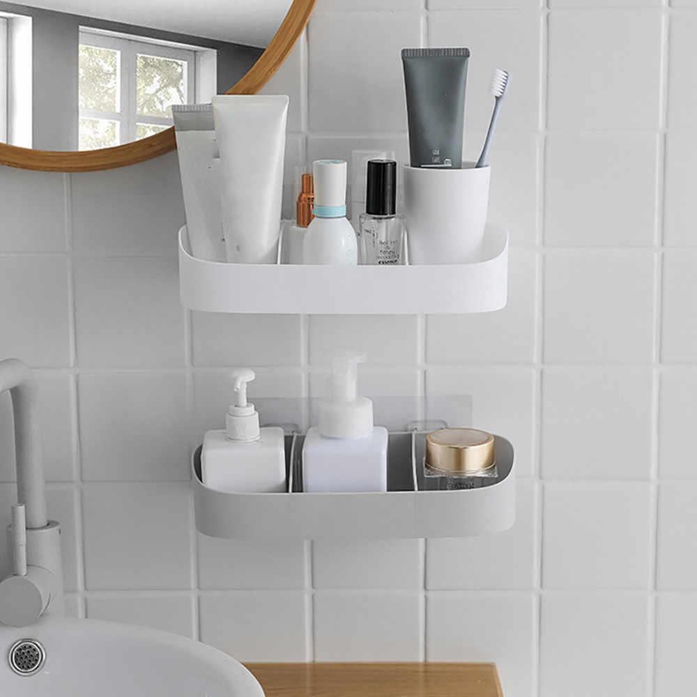 Athroom estante adhesivo Rack de almacenamiento de ducha de esquina estante  cocina decoración del hogar baño 070ba96b650a